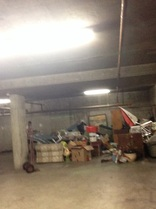 underground clean out of junk and rubbish