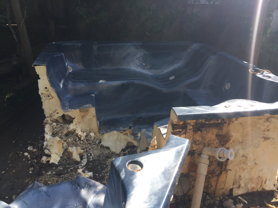 disposing of hot tub